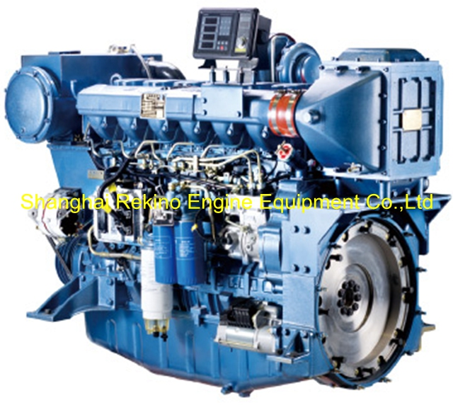 Weichai WP12C350-15 marine boat propulsion diesel engine 350HP 1500RPM